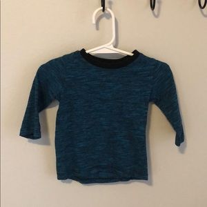 Blue and black long tee